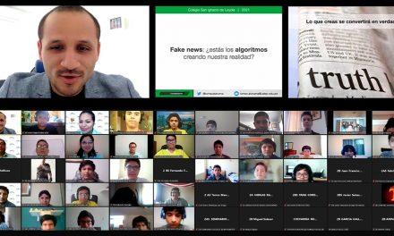 """Alumnos del Colegio San Ignacio de piura reciben charla sobre """"fake news"""""""